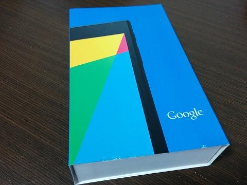 Nexus7の外箱